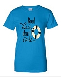 Boat Hair Don't Care.  Ladies Fit T-Shirt