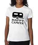 Happy Camper.  Ladies Fit T-Shirt