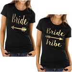 Bride & Bride Tribe.  Matching Bridal Party Ladies Fit T-Shirts