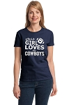 This Girl Loves The Cowboys.  Ladies Fitted T-Shirt