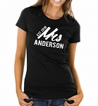 Personalized Mrs. Ladies Fit T-Shirt with Year Est. for the New Bride or Bride To Be