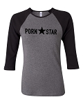 Porn Star.  Bella Brand Three Quarter Sleeve Tee