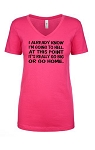 I Already Know I'm Going To Hell.  At This Point It's Really Go Big Or Go Home.  Ladies Fit V-Neck T-Shirt