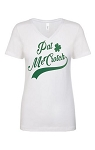 Pat McCrotch.  Ladies Fit V-Neck T-Shirt