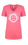 Resting Fuck Face.  Ladies Fit V-Neck T-Shirt