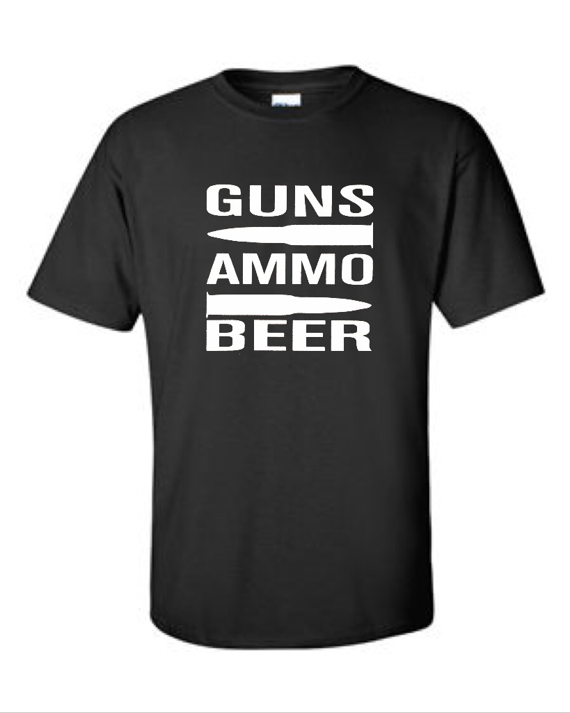 Guns.  Ammo.  Beer.  Men's Universal Fit T-Shirt