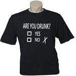 Are You Drunk?  Yes Or No.  Men's / Universal Fit T-Shirt