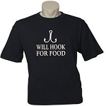 Will Hook For Food.  Men's / Universal Fit T-Shirt (COPY)