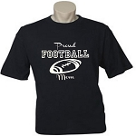 Proud Football Mom.  (Custom Option To Add Child's Name & Number On Back).  Men's / Universal Fit T-Shirt