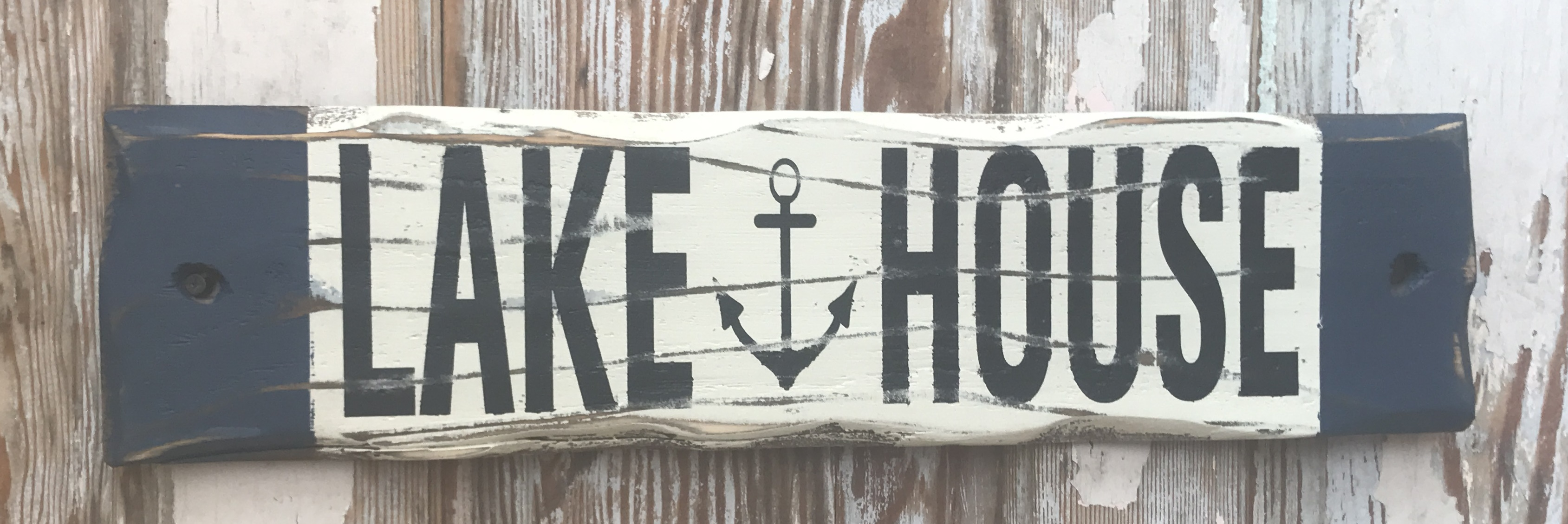Lake House.  Rustic Wood Sign