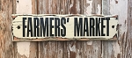 Farmers' Market.  Rustic Wood Sign