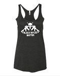 Black Rifles Matter.  Ladies Racer Back Tank Top