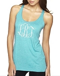 Monogrammed Ladies Racer Back Tank Top