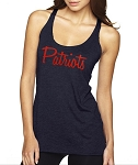 Patriots.  Ladies Racer Back Tank Top for the New England Patriots Fan.