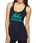 Personalized Mrs. with Year Established Ladies Racer Back Tank for the New Bride or Bride To Be