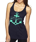 I Like Big Boats And I Cannot Lie.  Ladies Racer Back Tank Top