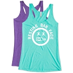 Resting Bar Face.  Ladies Racer Back Tank Top