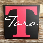 Custom Monogram Sign With Initial & Name.  Wood Sign