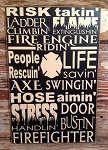 Firefighter Subway Sign.  Wood Sign