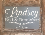Personalized Bed & Breakfast Sign with Year Est.  Custom Wood Sign