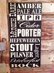 Beer Variety Subway Wood Sign