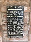 In This Home...We Do Wrestling.  Wood Sign