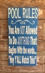 Pool Rules:  You Are NOT Allowed To Do ANYTHING That Begins With The Words...