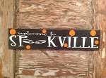 Welcome To Spookville.  Halloween Wood Sign