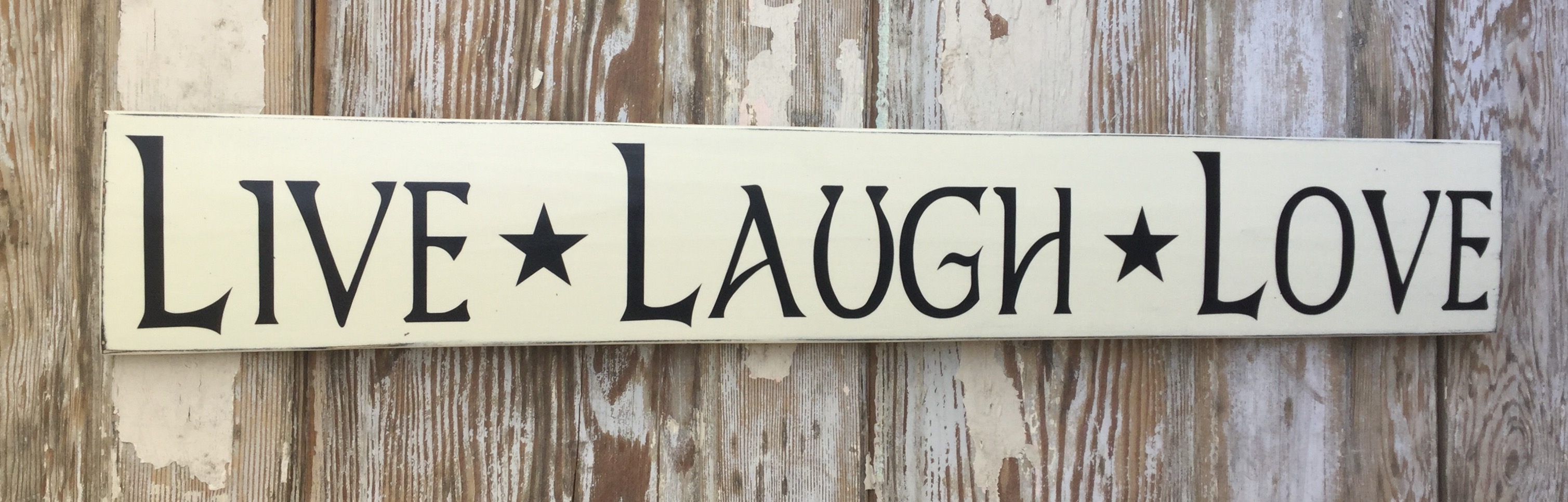 Live, Laugh, Love.  Wood Sign