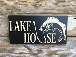 Lake House.  Wood Sign