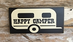 Happy Camper.  Wood Sign