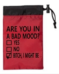 Are You In A Bad Mood?  Yes.  No.  Bitch, I Might Be.  Cinch Tote