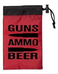 Guns.  Ammo.  Beer.  Cinch Tote