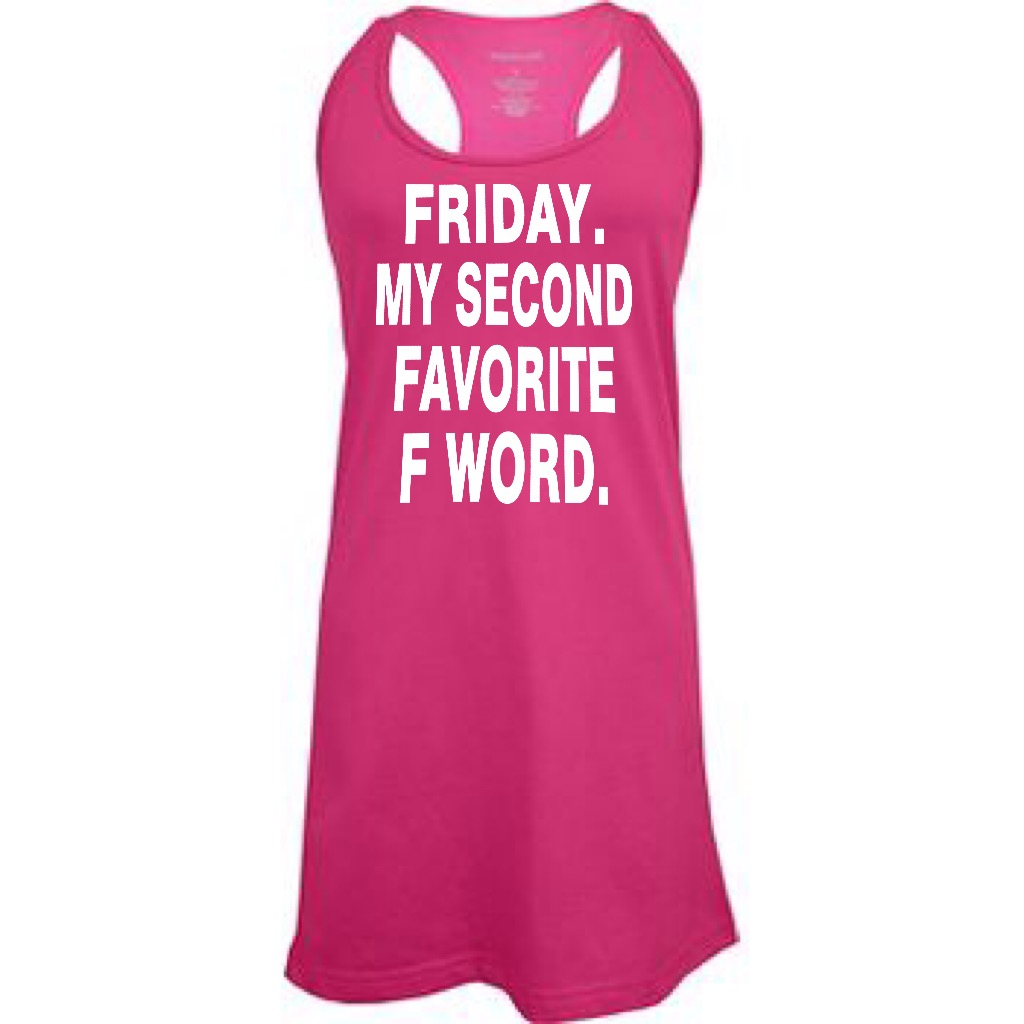 Friday.  My Second Favorite F Word.  Racer Back Swim Suit Cover Up