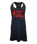 Be Naughty.  Save Santa The Trip.  Racer Back Swim Suit Cover Up