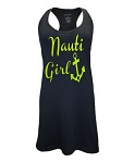 Nauti Girl. Racer Back Swim Suit Cover Up