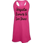 Tequila, Limes & Sunshine.  Racer Back Swim Suit Cover Up
