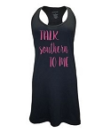 Talk Southern To Me.  Racer Back Swim Suit Cover Up