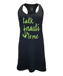Talk Nauti To Me.  Racer Back Swim Suit Cover Up