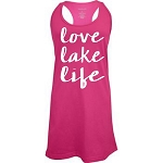 Love Lake Life.  Racer Back Swim Suit Cover Up