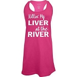 Killin' My Liver At The River.  Racer Back Swim Suit Cover Up
