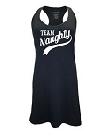 Team Naughty.  Racer Back Swim Suit Cover Up
