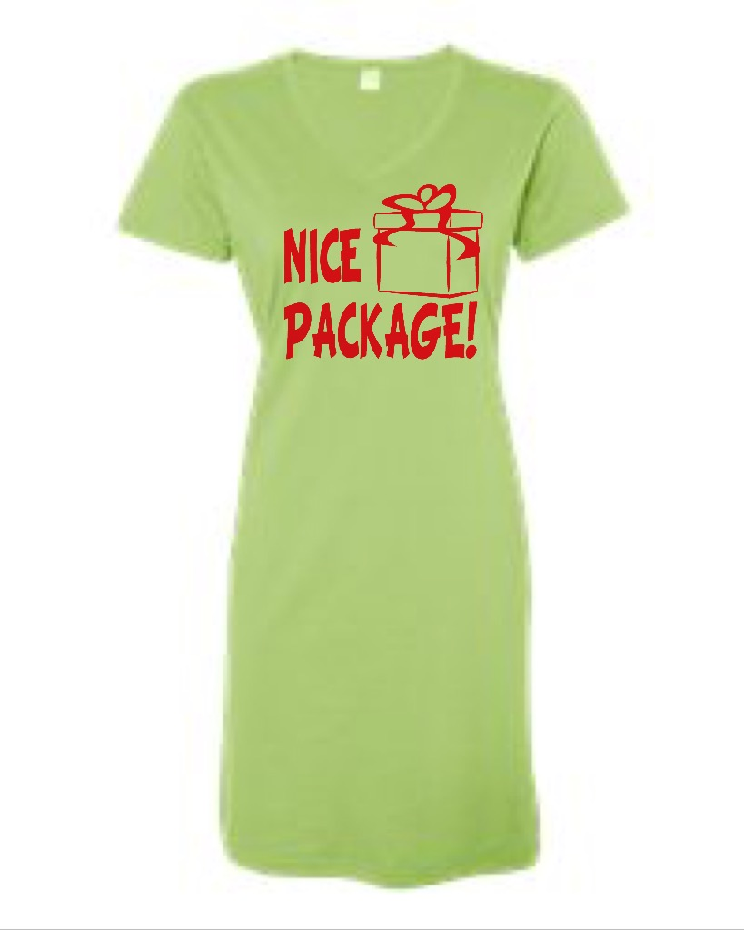 Nice Package!  V-Neck Swim Suit Cover Up
