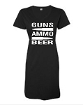 Guns.  Ammo.  Beer.  V-Neck Swim Suit Cover Up