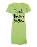 Tequila, Limes, & Sunshine.  V-Neck Swim Suit Cover Up