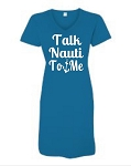 Talk Nauti To Me.  V-Neck Swim Suit Cover Up