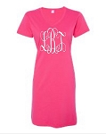 Monogrammed V-Neck Swim Suit Cover Up