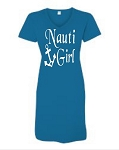 Nauti Girl. V-Neck Swim Suit Cover Up