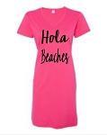 Hola Beaches.  V-Neck Swim Suit Cover Up