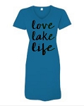 Love Lake Life.  V-Neck Swim Suit Cover Up